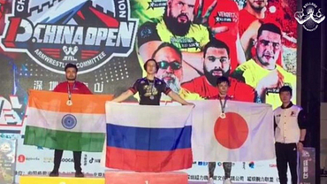 Indian arm wrestler Monoj Debnath wins Silver in China Armwrestling Open