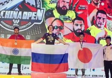 Indian arm wrestler Monoj Debnath wins Silver in China Armwrestling Open