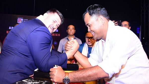 Igor Mazurenko, Lakhya Konwar, Arm wrestling, Bulldog Armwrestling, Arm wrestling India, URPA Guwahati, Armwrestling Showdown, PAL, URPA, Indian Arm wrestling